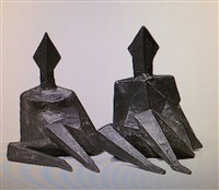 maquette iv diamond [2 figures] by lynn chadwick